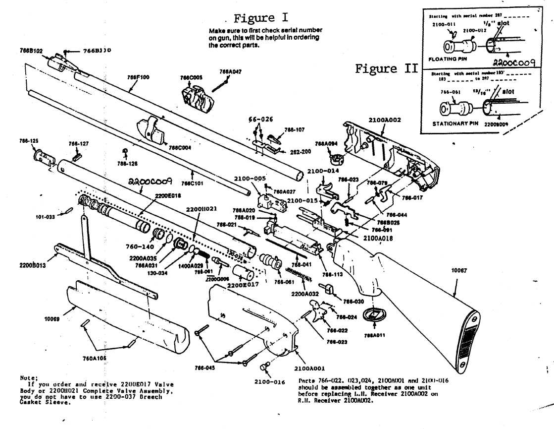 Схема пневматической винтовки кросман