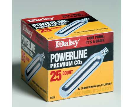 Daisy 12g Co2 Powerlets, 25-pk