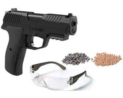 Crosman Iceman Co2 Pellet and BB Pistol Kit