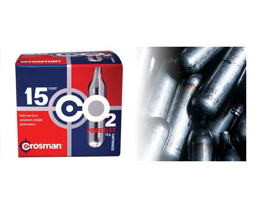 Crosman 12g CO2 Powerlets, 15-pk