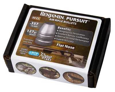 Benjamin Pursuit .357 (9mm) Flat Nose Airgun Bullets