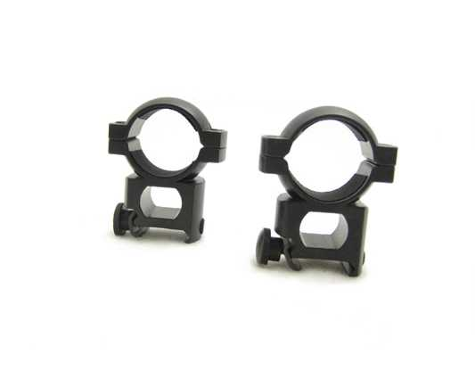 "NcStar 1"" Weaver-style Mount Tall-Height Rings w/Peep"