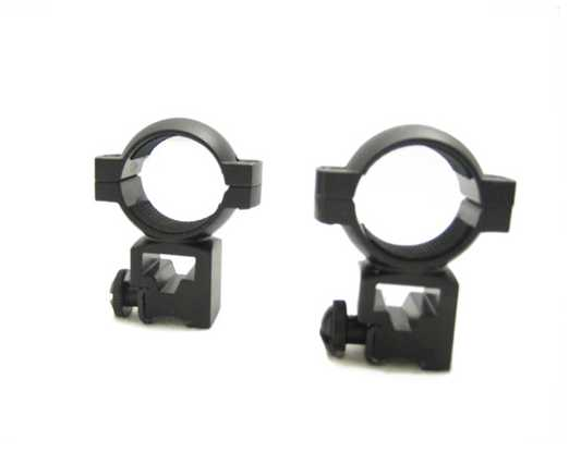 "NcStar 1"" Dovetail (3/8"") Tall-Height Rings w/Peep"