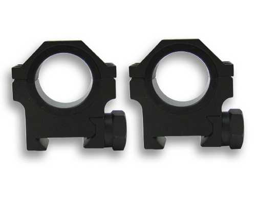 "NcStar 30mm/1"" HD Weaver Rings, Med-Height mounts & 1"" inserts"