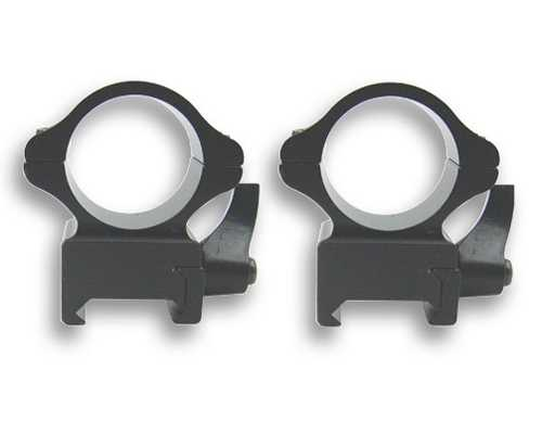"NcStar 1"" Weaver Mount Med-Height Steel Rings w/RapidRelease"