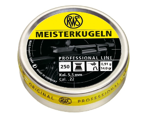 RWS Meisterkugeln .22 caliber 14gr Competition Pellets