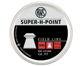 RWS Super-H-Point .177 calibre 6.9gr Hollow Point Pellets