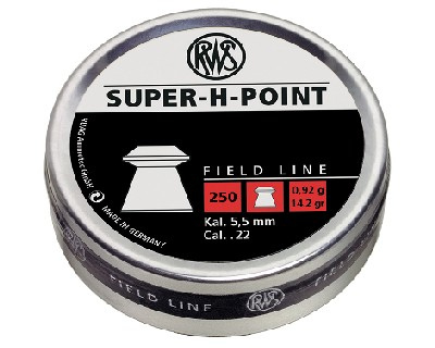 RWS Super-H-Point .22 calibre 14.2gr Hollow Point Pellets