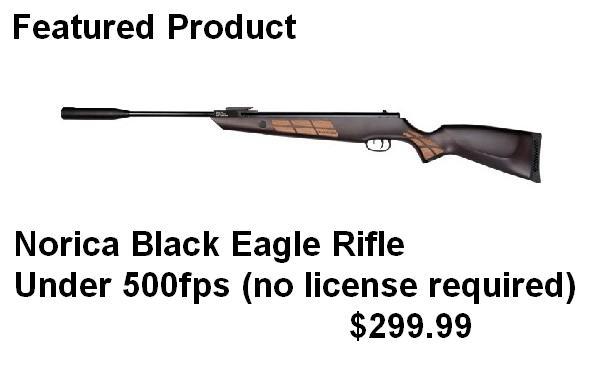 Norica Black Eagle Rifle Canada Detuned