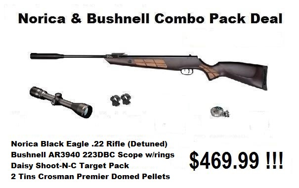 Norica Black Eagle and Bushnell Combo Pack